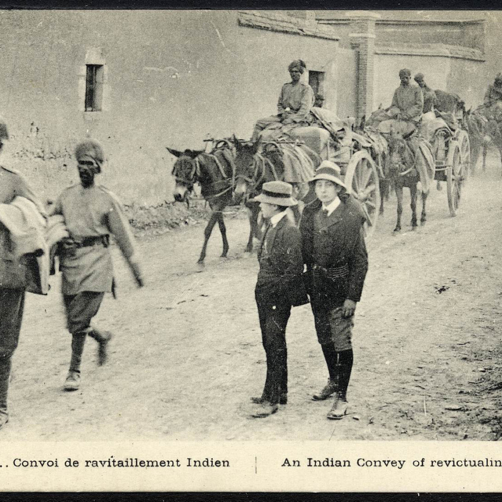 1914… Convoi de ravitaillement Indien - An Indian Convey of revictualing