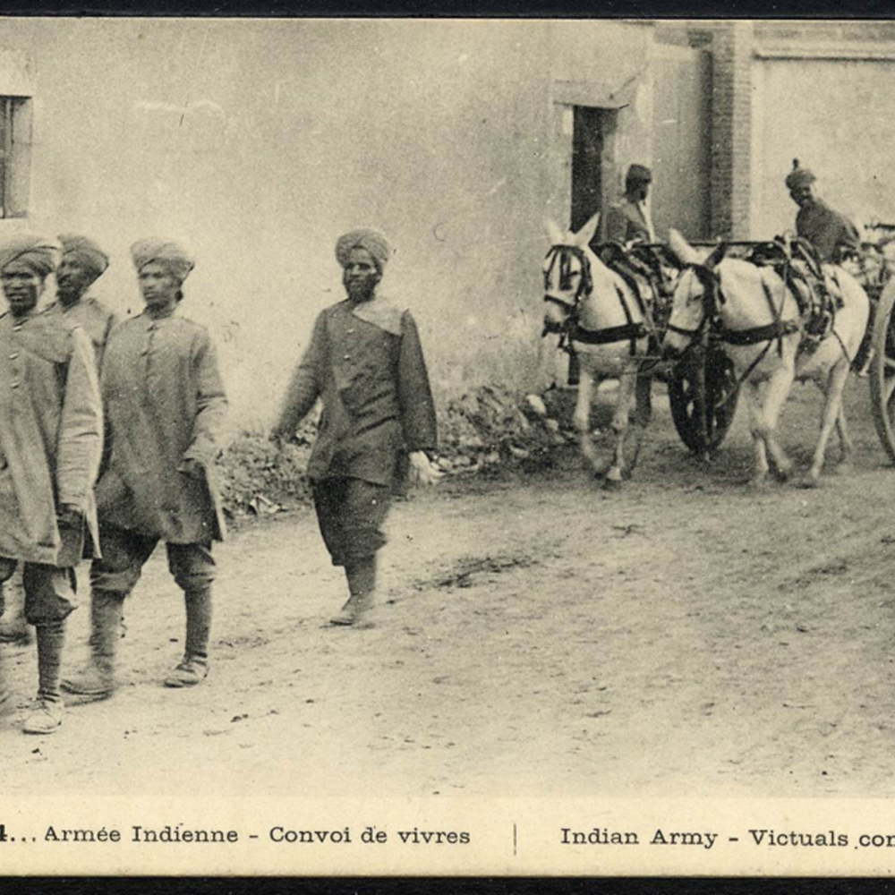 1914… Armée Indienne - Convoi de vivres. Indian Army - Victuals convey